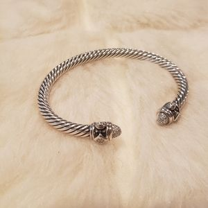 Sterling silver bracelet w/ diamonds $1250 retail